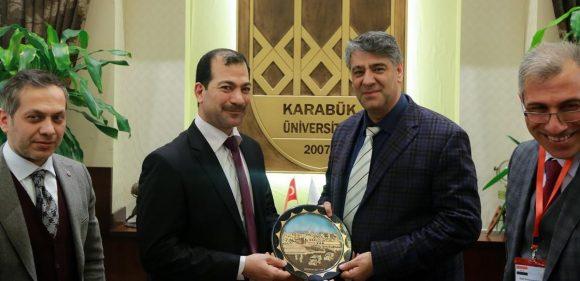 Kerkük Üniversitesi heyeti KBÜ'yü ziyaret etti