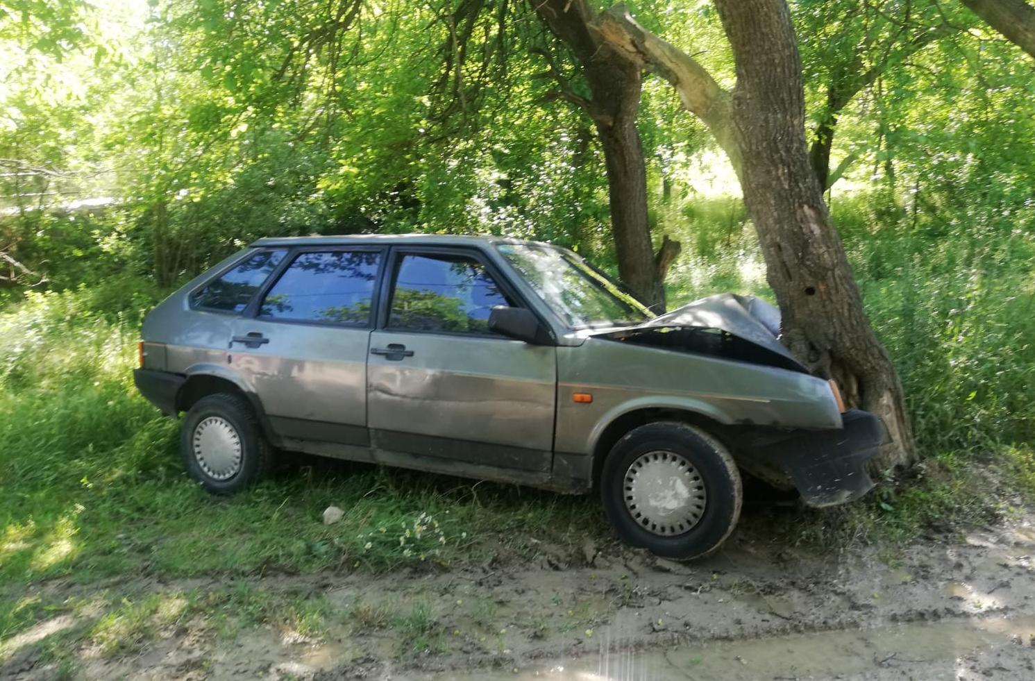 Yoldan Çıkan Araç, Ağaca Çarptı : 3 Yaralı